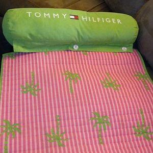 Tommy Hilfiger matt green and pink.